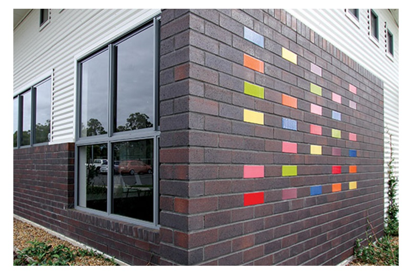 PGH Pavers & Bricks Vibrant clay bricks used in a primary school project.
